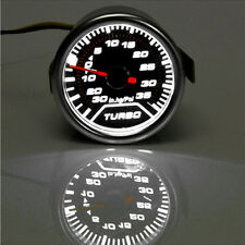 "Pointer 2"" 52mm Car Auto Universal Smoke Len LED Psi Turbo Boost Gauge Meter Kit"