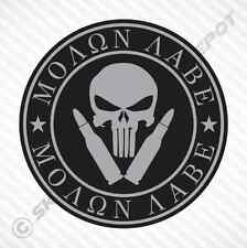 Molon Labe Punisher Skull Sticker Vinyl Decal Car Truck Motorcycle Gun Sticker