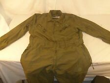 Excellent Condition Military Army Issued Crewman's Working Green Coveralls 80233