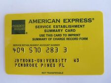 VINTAGE AMERICAN EXPRESS SERVICE ESTABLISHMENT CARD- circa 1980