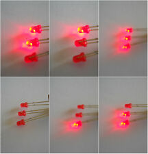 LED's Red Flashing 3mm  ***NOW 20***  (3 for 2 avail.)