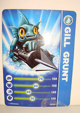 CARTE FIGURINE FIGURE JEUX VIDEO SKYLANDERS - GILL GRUNT