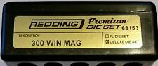 68153 REDDING 3-DIE PREMIUM DELUXE BOTTLE NECK SET - 300 WIN MAG - BRAND NEW