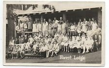 1930s RPPC Postcard of numerous People outside Forest Lodge Greenville CA