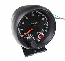 Universal 80mm Tacho RPM Gauge W/ Shift Light ideal for Race Track Kit Car