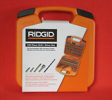 NEW Ridgid 125 Piece Drill & Drive Bit Set. Kit comes with Nut Drivers