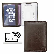 Prime Hide Washington RFID Blocking Brown Leather Credit Card Holder RFID SAFE
