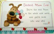 """""""BOOFLE"""" HEART WARMER KEEPSAKE MESSAGE CARD """"BESTEST MUM EVER"""" MOTHER'S DAY GIFT"""