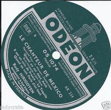 Étiquette Ancienne Ronde Pour Disque Papier marque Odeon Titre Chanteur Mexico