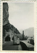 PHOTO ANCIENNE - VOITURE TRACTION MONTAGNE ITALIE -CAR MOUNTAIN-Vintage Snapshot