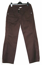 NEXT (UK10 / EU38/US6) 100% COTTON DARK BROWN TROUSERS - NEW