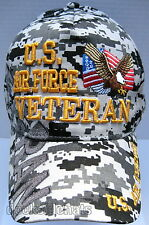U.S. AIR FORCE VETERAN Cap/Hat w/ Eagle Flag Digital camo Military *Free Ship*