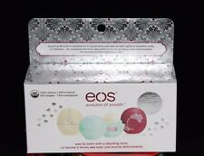 EOS Lip Balm Sphere HOLIDAY 2015 Vanilla Bean Sweet Mint Pomegranate Stickers