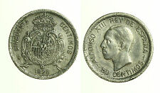 pcc1249_9) SPAGNA SPAIN 50 CENTIMOS 1926 PC-S argento Alfonso XIII  TONED