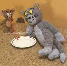 VINTAGE TOY KNITTING PATTERN FOR TOM AND JERRY CAT & MOUSE TOYS