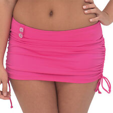 New Curvy Kate Pink Skirted Bikini Bottoms UK 22 Briefs Luau Love Flamingo Pink