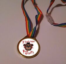 12ct~ 5 five NIGHTS at FREDDY'S RAINBOW MEDALS, birthday party favors FNAF