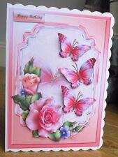 Personalised Handmade Beautiful Butterflies Birthday Card Mum Sister Daughter