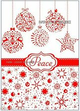 NEW•GORGEOUS•• PEACE CHRISTMAS BAUBLE • EMBOSSING FOLDER• FOR CUTTLEBUG + SIZZIX