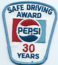 Pepsi Safe Driving Award 30 Years. 3-1/2X3X2 in Hard to earn patch.