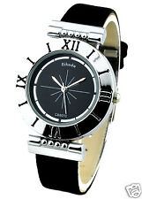 Roman Digit Woman's Wrist Watch - Black Color Ladies Watches