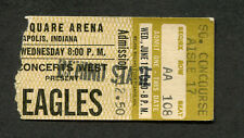 Original 1980 The Eagles Concert Ticket Stub Indianapolis IN The Long Run
