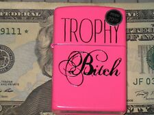 New USA Genuine ZIPPO Windproof Flame Lighter 28886 Trophy itch Hot Pink Case fl