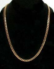 "EXCEPTIONAL 18K YELLOW GOLD 23 1/2"" CURB LINK CHAIN"