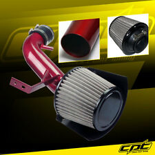 Red Cold Air Intake + Stainless Steel Air Filter For 07-12 Altima 2.5L 4cyl