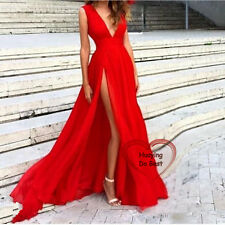 Long Chiffon Evening Cocktail Formal Wedding Party Bridesmaid Prom Gown Dresses
