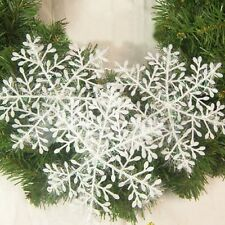 Snowflake Ornament Xmas Decor 30 pcs Christmas Tree Classical Tree Decoration