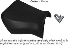 CARBON FIBRE VINYL CUSTOM FITS YAMAHA MT 03 06-13 FRONT SEAT COVER ONLY