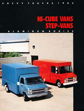 1985 Chevrolet Hi Cube Step Van 12-page Car Sales Brochure Catalog