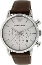 Emporio Armani Men's Classic AR1846 Brown Leather Quartz Watch