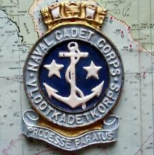 VLOOT KADET KORPS : South Africa Navy Ship Metal Tampion Plaque Crest