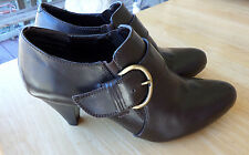 Womens Ankle Boots / Shoes Bass Pandora 8M Brown Dress Career 8 med