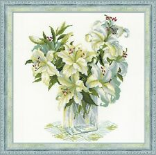 RIOLIS Counted Cross Stitch Kit White Lilies R1169