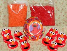 Elmo,Cupcake Kit,Rings,Sprinkles,Bake Cups,Wilton, Party Set,415-3461,Red