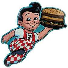 Vintage Style Big Boy Embossed Die Cut Tin Sign.Give your Wall instant Nostalgia
