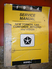 1994 CHRYSLER CONCORDE NEW YORKER LHS EAGLE VISION FACTORY SERVICE MANUAL