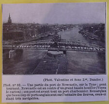 Old Print 1921 Original Larousse Pont Tournant NEWCASTLE