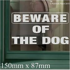 Beware of the Dog-Window Adhesive Vinyl Sticker-Security Warning Sign Label-Home