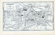 Aurillac 1923 pt. plan ville orig. + guide (2 p.) St-Géraud N. D. aux Neiges