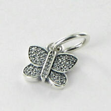 New!!Authentic Pandora charm Bead Sparkling Butterfly CZ Pendant 791497CZ