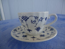 vintage churchill georgian collection finlandia tea cup and saucer blue  white