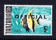 TANZANIA 1967-71 5/- ON GLAZED PAPER SG O27a MNH.