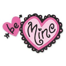 Ellison SIZZIX Sizzlits Die BE MINE with Heart  655178 by Stu  8.57cm x 5.72cm