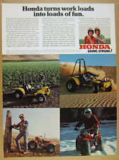 1978 Honda ATC 90 3-Wheeler & Odyssey FL250 ATV color photos vintage print Ad