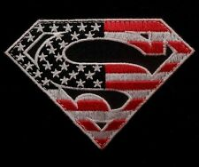SUPERMAN AMERICAN FLAG USA ARMY TACTICAL US MILITARY BLACK OPS RED VELCRO PATCH