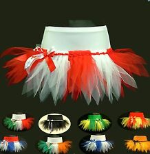 CHEERLEADING TUTU MINI SKIRT FOOTBALL RUGBY FANCY DRESS PAGEANT FLAG PARTY
